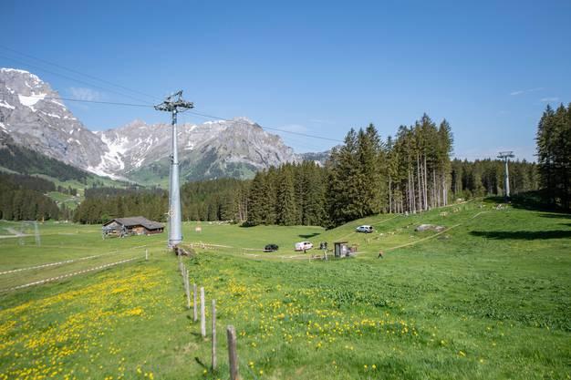 Die Unfallstelle auf der Gerschnialp oberhalb von Engelberg.
