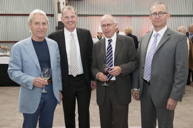 Sie haben als Verwaltungsräte das Casino-Steuer im Griff (von links) Peter Probst, Stephan Attiger, Peter Blöchlinger und Jürg Altorfer