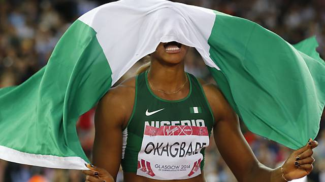 Blessing Okagbare-Ighoteguonor siegte über 100 m