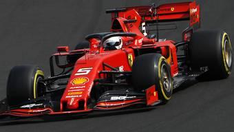 Sebastian Vettel im Ferrari fuhr im ersten Training zum Grand Prix von Belgien die beste Rundenzeit