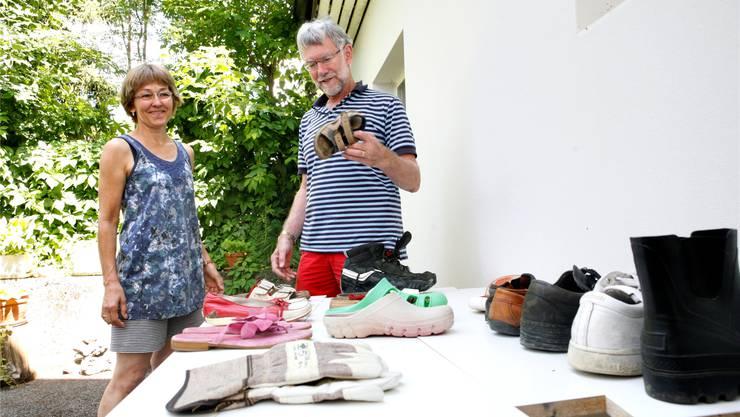 Der «Steingrubener Schuhbasar» von Kurt und Helena Leisibach-Altermatt hat ein stattliches Sortiment.