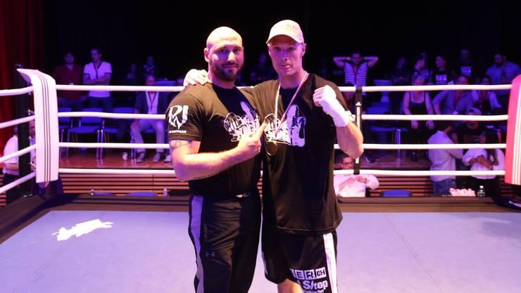 Blas-Miguel Martinez (l.) mit Neo-Profi Fabian Hartmann