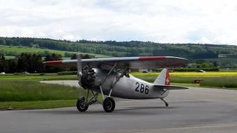 Die historische Dewoitine-Maschine aus dem Jahr 1931 ist am Samstag nach Grenchen geflogen worden.