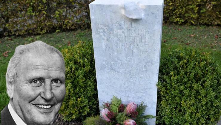 Willi Ritschard und auch Greti sowie Rolf Ritschard dürfen noch länger auf dem Friedhof in Luterbach ruhen