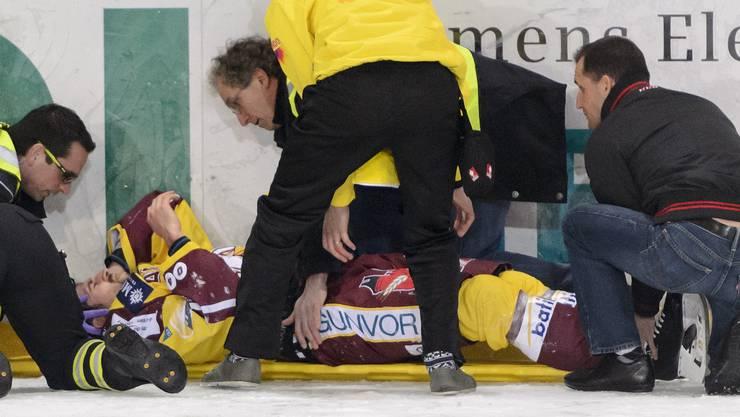 Jochbeinbruch: Für Opfer Daniel Rubin dürfte die Saison vorbei sein