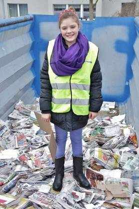 Valeria Da Silva ist zwölf Jahre alt und hilft schon fleissig die Stadt sauber zu halten