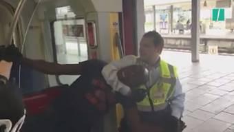Ein Video dokumentiert, wie zwei Sicherheitsbeamte einen Schwarzfahrer rabiat aus einer S-Bahn in München entfernen. Die Darstellungen darüber, was zu dem harten Vorgehen führte, gehen auseinander.