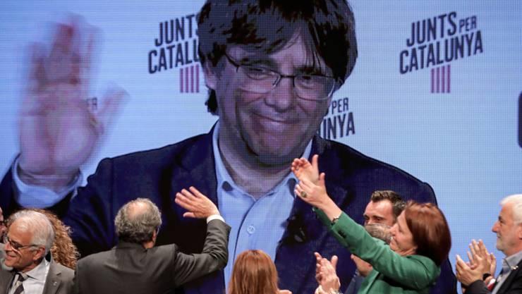 Der Europäische Gerichtshof für Menschenrechte (EGMR) in Strassburg hat eine Beschwerde des katalanischen Separatistenführers Carles Puigdemont (im Bild) abgelehnt. Das spanische Verfassungsgericht habe im Interesse der öffentlichen Sicherheit gehandelt. (Archivbild)