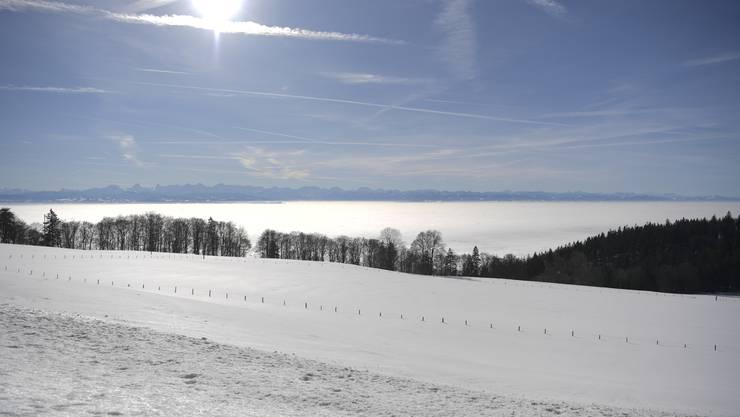 Das Nebelmeer über dem Mittelland.
