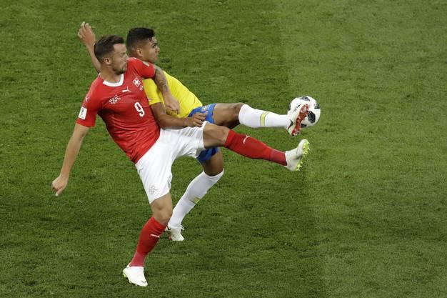 Seferovic während des Brasilienspiels.