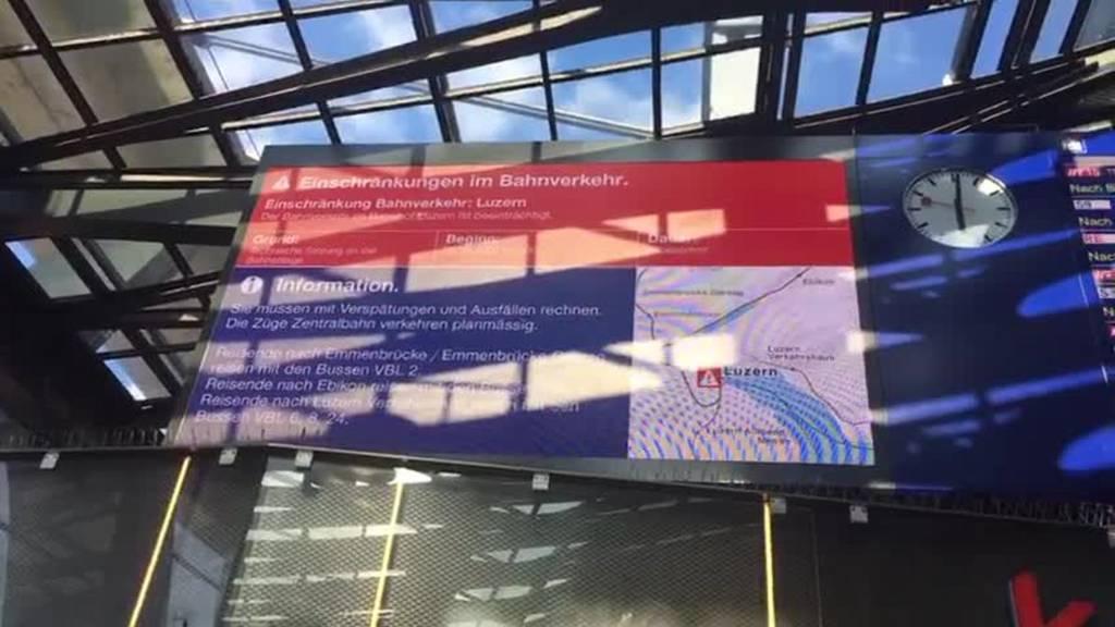 Störung am Bahnhof Luzern behoben