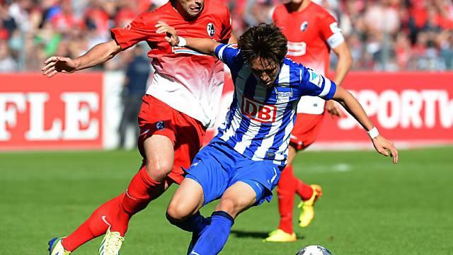 Freiburgs Admir Mehmedi (links) erzielte das 1:0