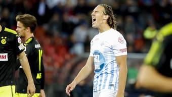 Im Derby mit dem FC Zürich von den Grasshoppers vorgeführt: Stürmer Michael Frey