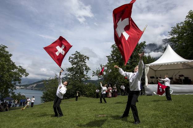 Schweizer Bundesfeier 2015 auf dem Rütli.