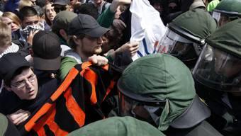 Trotz grossem Polizeiaufgebot demonstrierten über 20'000 Leute in Frankfurt