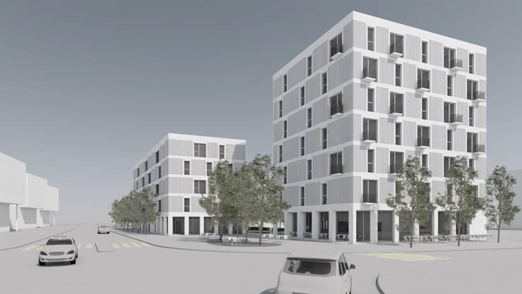 Zwei Gebäude mit fünf Stockwerken und ein siebengeschossiges Hotel sind am Platz des heutigen Hotel Rondos geplant.