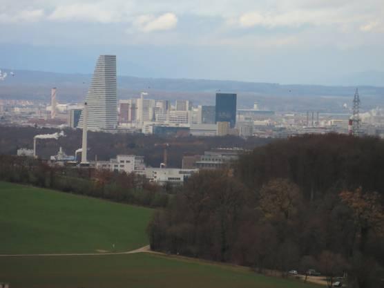 Was für ein Blick nach Basel, sogar den Roche Turm konnte man sehen.