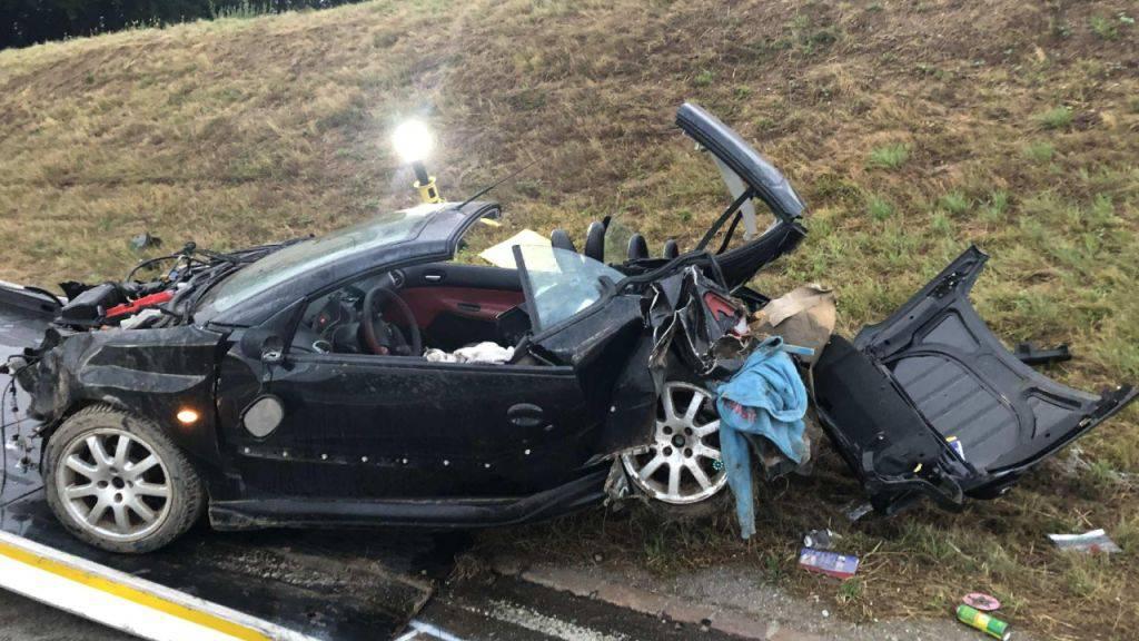 So präsentierte sich das väterliche Auto nach dem Unfall.