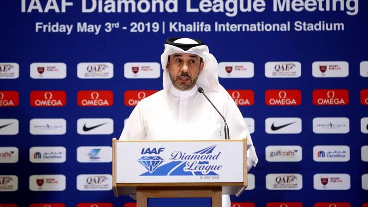 Verdacht auf einen Interessenskonflikt: General  Al-Kuwari bei einer Pressekonferenz in Doha.