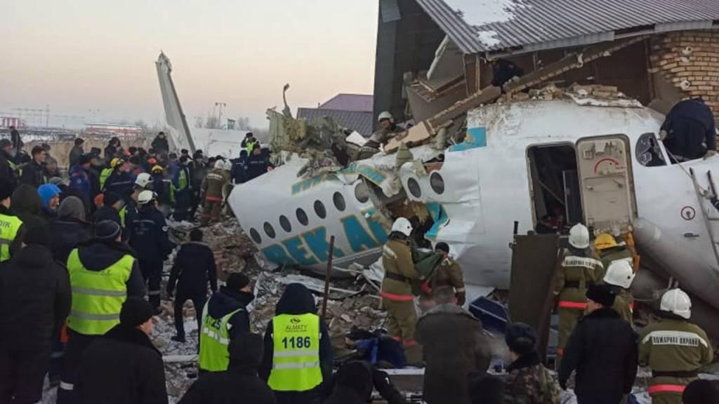 Trauer in Kasachstan nach Flugzeugabsturz