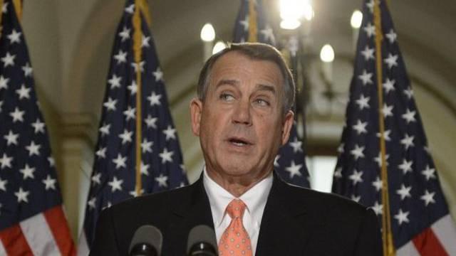 "Der Verhandlungsführer John Boehner erläutert den republikanischen ""Plan B"""