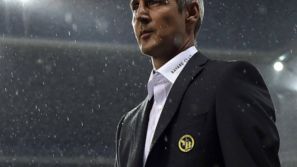 Im fünften Super-League-Spiel erstmals nicht Sieger: YB-Coach Adi Hütter