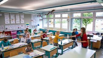 Corona-Unterricht an Primarschule Neuendorf