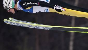 Simon Ammann musste sich in Lillehammer von Morgenstern und  Larinto geschlagen geben