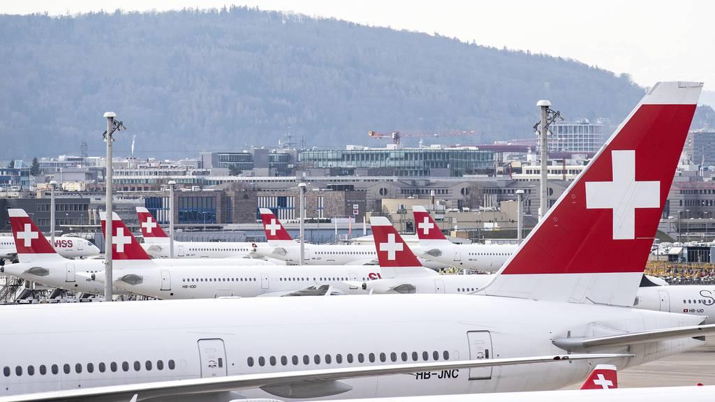 So werden die Flugzeuge der Swiss parkiert