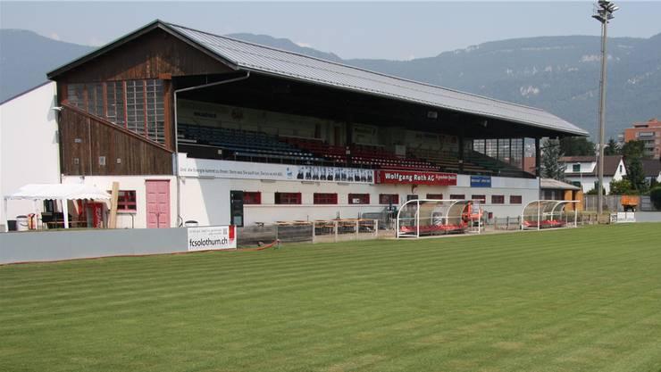Läuft alles nach Plan, dürfen sich die Fussballer des FC Solothurn Anfang Mai über neue Garderoben freuen. (Archivbild)