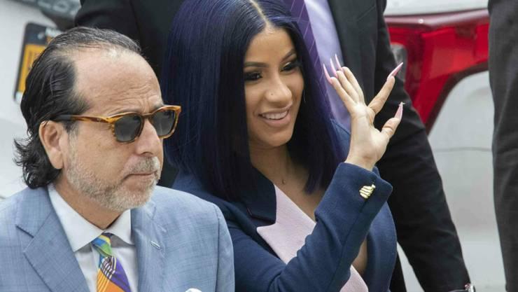 Steht in New York wegen Gewalt in einem Nachtclub vor Gericht: die US-Rapperin und Grammy-Gewinnerin Cardi B.
