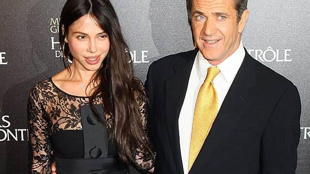 Mel Gibson und Oksana Grigorieva in Paris (Archiv)