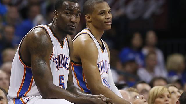 Mitunter schwach in der zweiten Hälfte: Perkins (5) und Westbrook