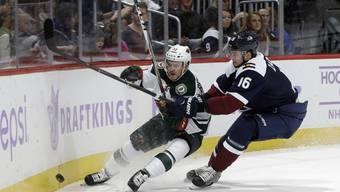 Christoph Bertschy (links) ist von Minnesota Wild wieder in die AHL geschickt worden