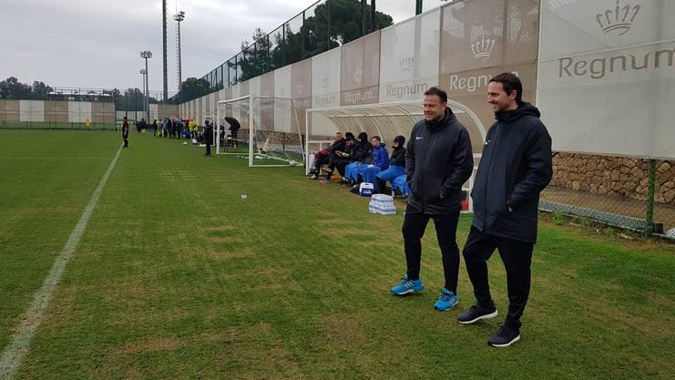 Trainer Patrick Rahmen und Sportchef Sandro Burki.