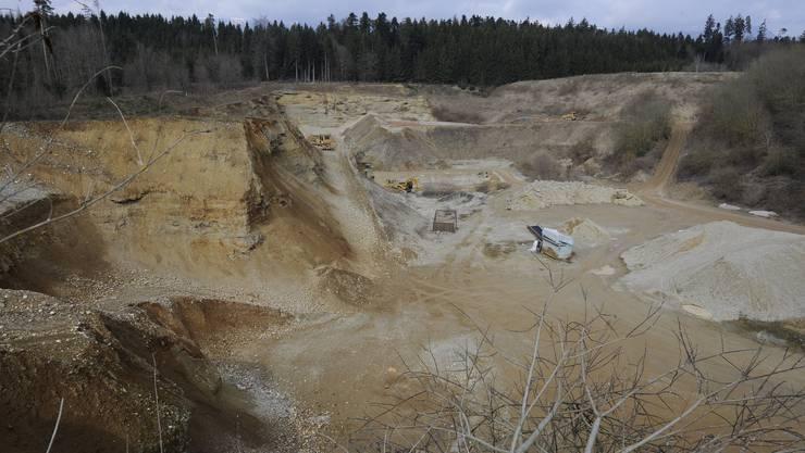 Die Kiesgrube Haulital in Lüterkofen-Ichertswil