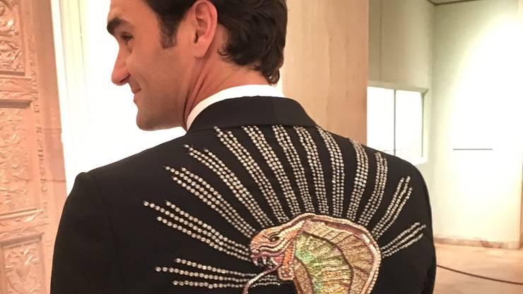 Roger Federer im gewagten Outfit.