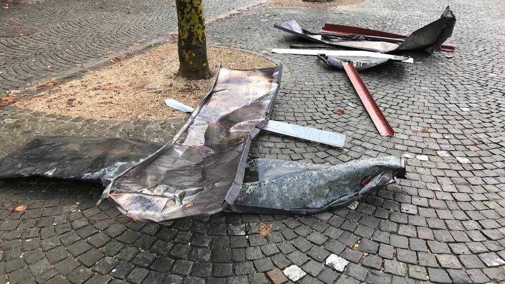 Burglind Sturm Verwüstung Aarau