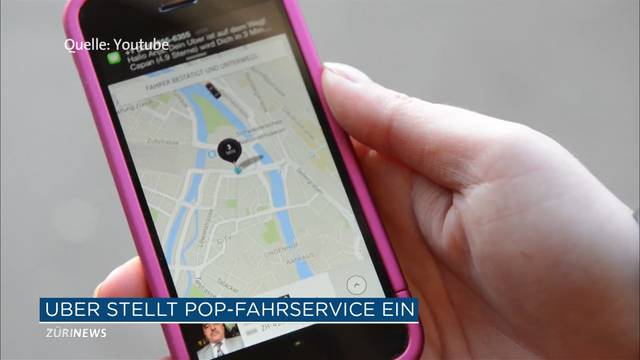 Uber Pop Schweiz wird eingestellt
