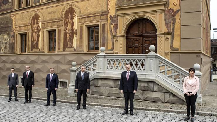 Sechs Schwyzer Regierungsräte sind bereits im ersten Wahlgang gewählt worden.