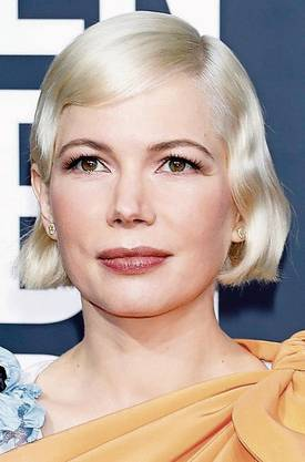 Wasserwelle an den Golden Globes 2020: Schauspielerin Michelle Williams.