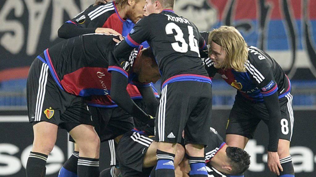 Der FC Basel jubelt über das Weiterkommen in der Europa League