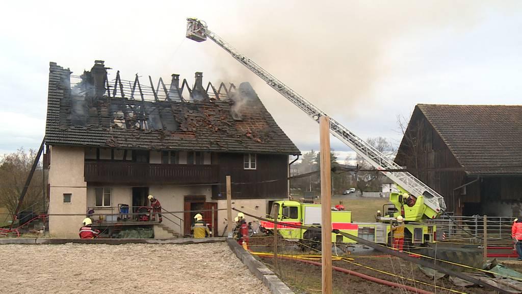 Bauernhaus in Uster (ZH) brennt lichterloh