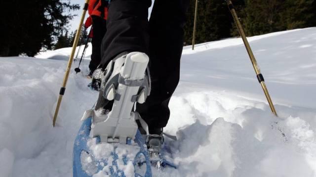 Unterwegs mit Schneeschuhen (Symbolbild)