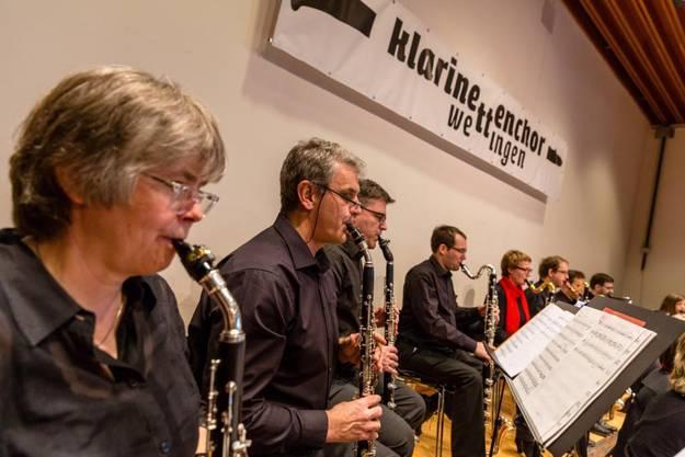 Zu hören im Klarinettenchor Wettingen: Klarinetten unterschiedlichster Bauart