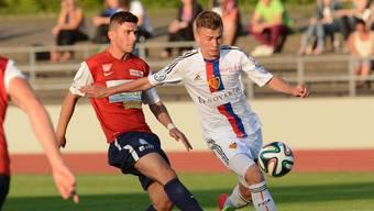 Robin Huser (r.) spielte für Basel in der Promotion League, der Uefa-Youth- und der Super League. (Archivbild)