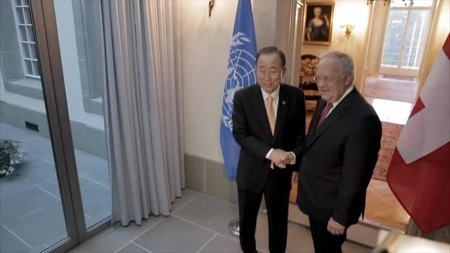 Offizieller Besuch von Uno-Generalsekretär Ban Ki-moon