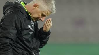 Aarau-Trainer Livio Bordoli konnte es nicht fassen