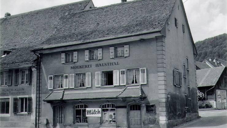 Die Filiale Baslerstrasse im Jahr 1957, in der Cécile Häfliger tätig war.