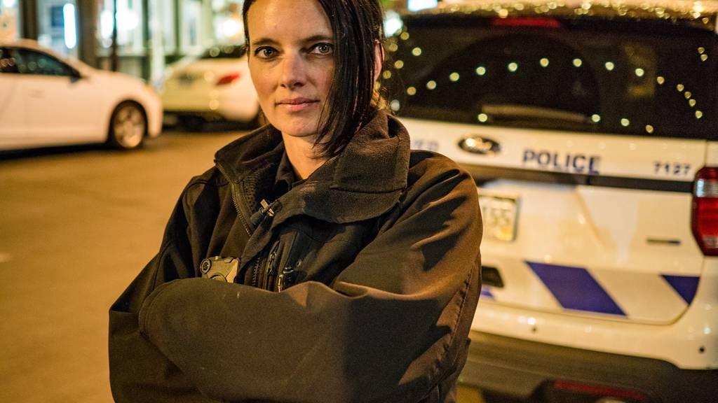 Tamara Lenherr sichert in Denver die Strassen als Polizistin.